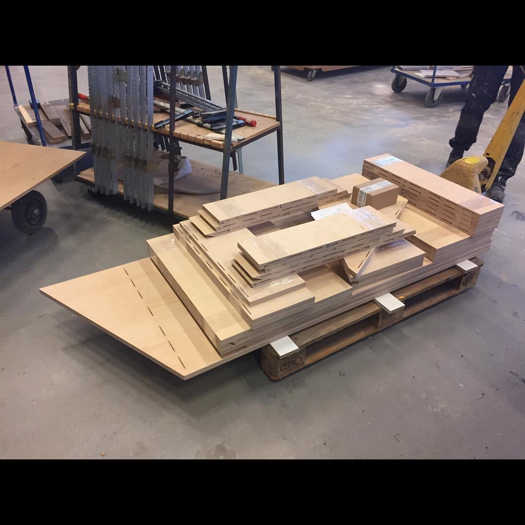 1 custom designed staircase ready to roll from the carpenters. Its like Ikea, but different