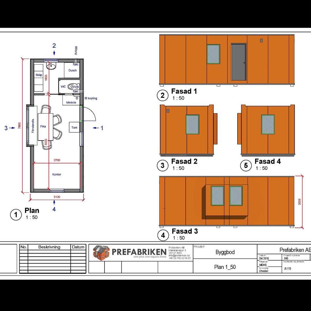 Prefabrikens modulhus är smart och välbyggda året runt lösning för er som som gillar god design, fina detaljer och hållbara material. Brandklassning Ei60, utbytbara fibercement fasad skivor, tåliga forbo linoleum mattor, inget organiskt i väggarna som kan ruttna eller bli förstörde av fukt. Leverans sker med kranbil som lyfter huset på plats. 25 kvm fungera som Attefallshus. Ring eller mejla för mer information. Vi hoppas det syns och känns i väggarna att våra hus är byggda med personligt engagemang och kreativ glädje.